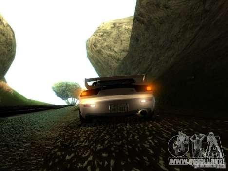 Mazda RX-7 TypeR para GTA San Andreas vista hacia atrás