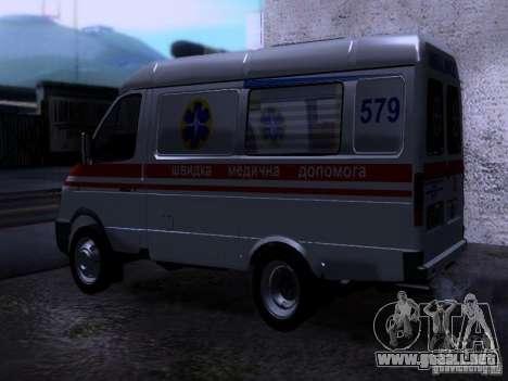 Ambulancia gacela 2705 para GTA San Andreas left