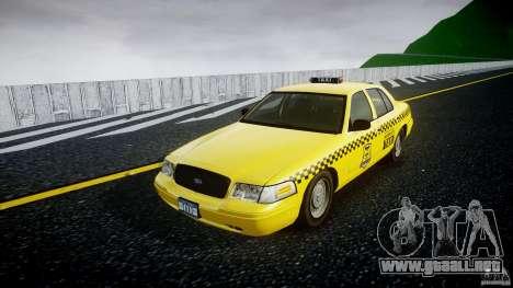 Ford Crown Victoria Raccoon City Taxi para GTA 4