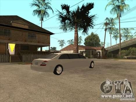 Mercedes-Benz Pullman (w221) SE para GTA San Andreas vista hacia atrás