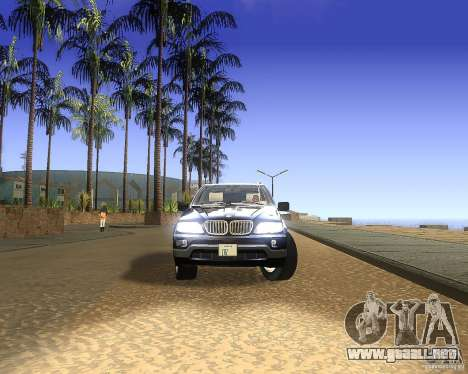 BMW X5 4.8 IS para GTA San Andreas vista posterior izquierda