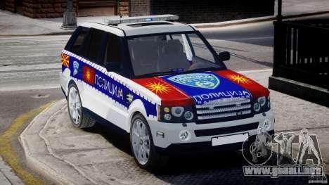 Range Rover Macedonian Police [ELS] para GTA 4 vista interior