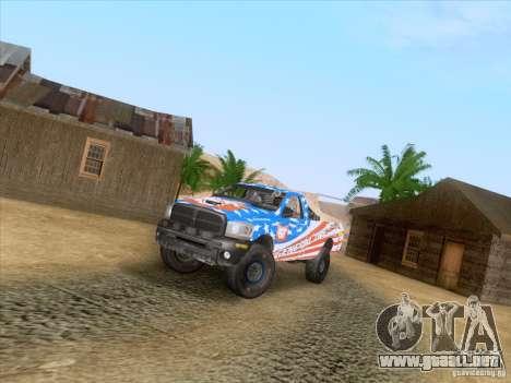 Dodge Ram Trophy Truck para visión interna GTA San Andreas