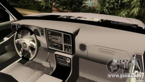 Cadillac Escalade para GTA Vice City visión correcta