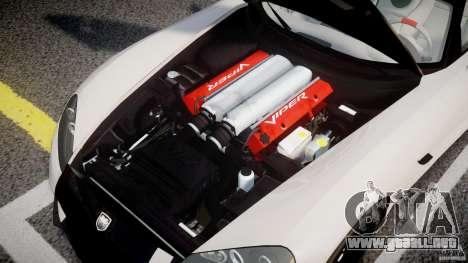Dodge Viper SRT-10 ACR 2009 v2.0 [EPM] para GTA 4 vista hacia atrás