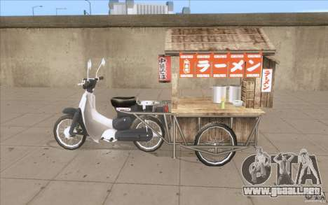 Honda Super Cub con un carro para GTA San Andreas left