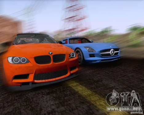 BMW M3 GT-S Fixed Edition para visión interna GTA San Andreas