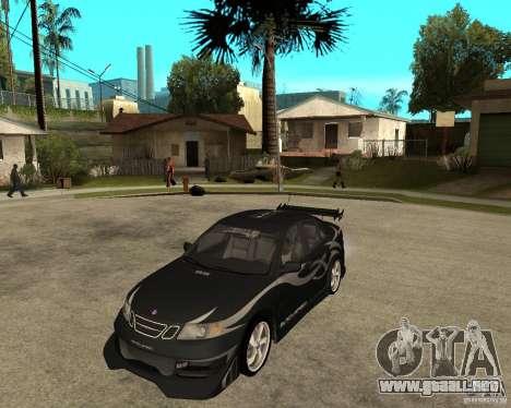 Saab 9-3 de GM Rally versión 2 para GTA San Andreas