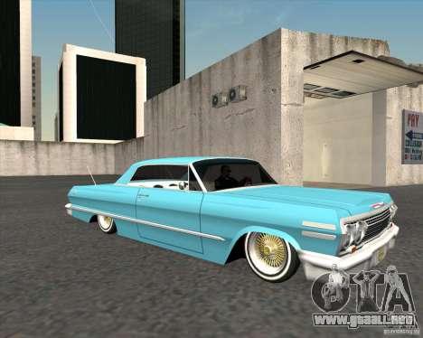 Chevrolet Impala 1963 lowrider para la visión correcta GTA San Andreas