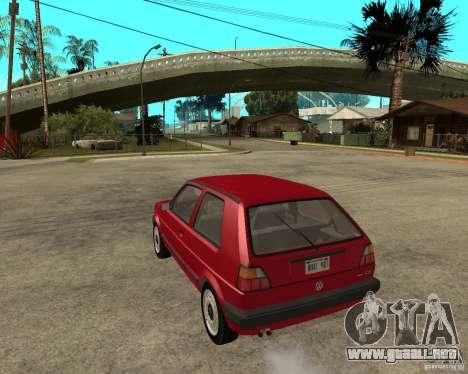Volkswagen Golf Mk.II para GTA San Andreas left