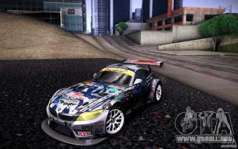 BMW Z4 E89 GT3 2010 para las ruedas de GTA San Andreas