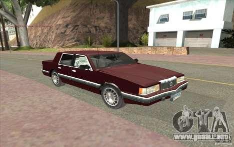 Chrysler Dynasty para GTA San Andreas left