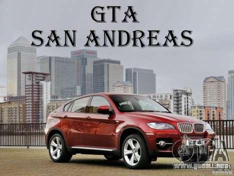 Pantallas de carga BMW X 6 para GTA San Andreas