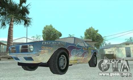 Speedevil de FlatOut para GTA San Andreas vista hacia atrás
