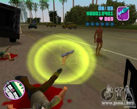 USP-45 en un desierto muriendo de para GTA Vice City sucesivamente de pantalla