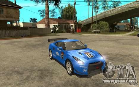Nissan GT R Shift 2 Edition para visión interna GTA San Andreas