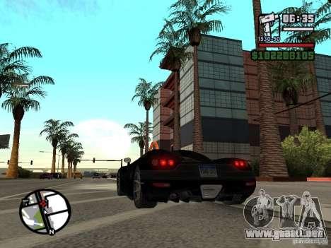 Koenigsegg CCX para GTA San Andreas vista posterior izquierda