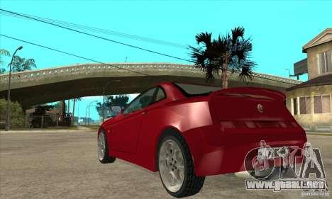 Alfa Romeo GTV para GTA San Andreas vista posterior izquierda