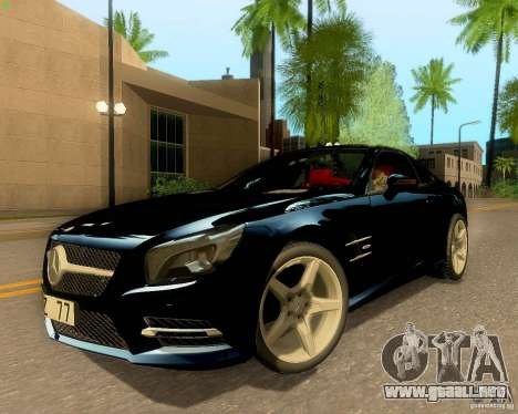 Mercedes-Benz SL350 2013 para visión interna GTA San Andreas