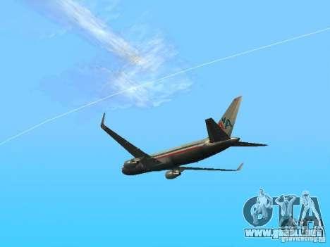 Boeing 767-300 American Airlines para la visión correcta GTA San Andreas
