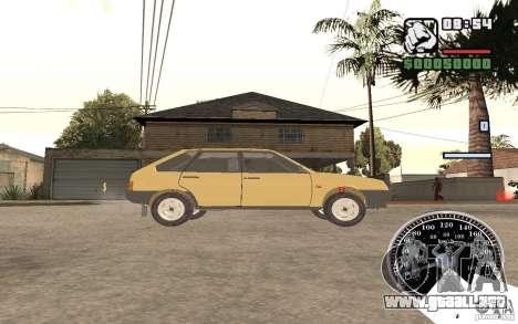VAZ 21093i para GTA San Andreas vista posterior izquierda