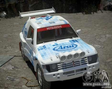 Mitsubishi Pajero Proto Dakar EK86 vinilo 3 para GTA 4 vista lateral