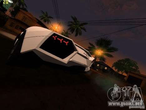 Lamborghini Reventon Roadster para GTA San Andreas vista posterior izquierda