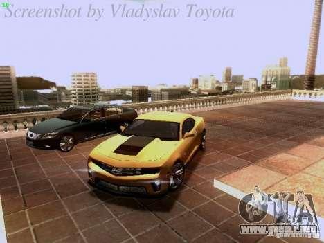 Chevrolet Camaro ZL1 2012 para vista inferior GTA San Andreas