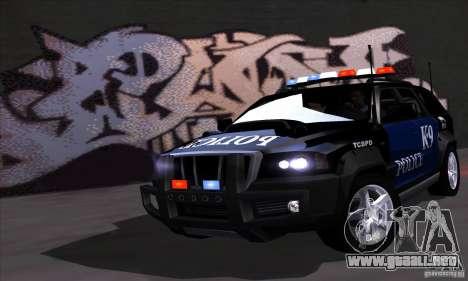 NFS Undercover Police SUV para GTA San Andreas