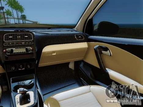 Volkswagen Polo 6R TSI Edit para GTA San Andreas vista hacia atrás