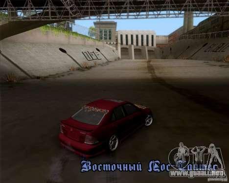 Lexus IS300 Hella Flush para GTA San Andreas vista hacia atrás
