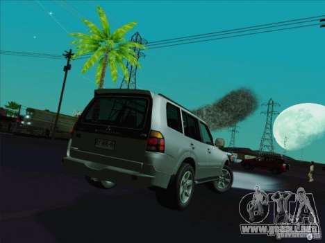Mitsubishi Montero para GTA San Andreas vista posterior izquierda