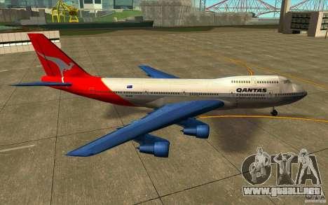 Boeing Qantas 747-400 para GTA San Andreas left