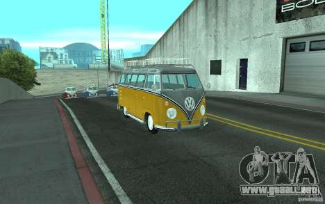 Volkswagen Transporter T1 SAMBAQ CAMPERVAN para la visión correcta GTA San Andreas