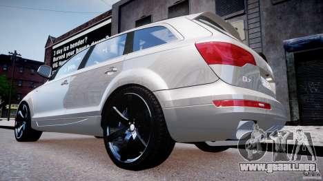 Audi Q7 LED Edit 2009 para GTA 4 visión correcta
