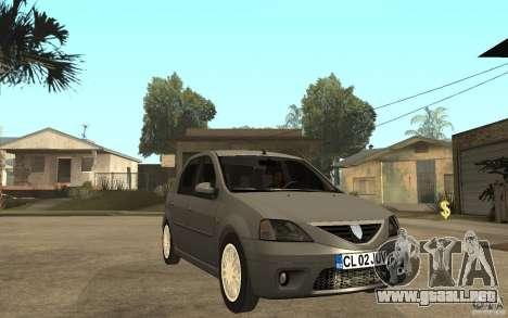 Dacia Logan Prestige 1.6 16v para GTA San Andreas vista hacia atrás