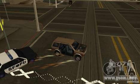 Los clavos en la carretera para GTA San Andreas segunda pantalla