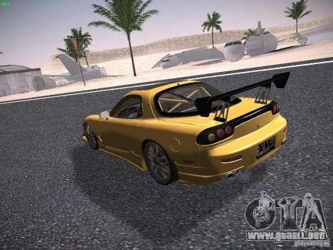 Mazda RX-7 FD3S C-West Custom para GTA San Andreas vista posterior izquierda