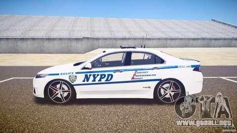 Honda Accord Type R NYPD (City Patrol 1090) ELS para GTA 4 left