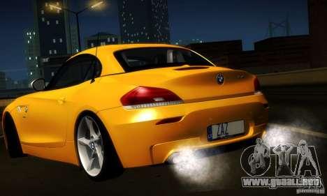 BMW Z4 Stock 2010 para visión interna GTA San Andreas