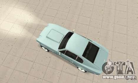 Aston Martin V8 para GTA San Andreas vista posterior izquierda