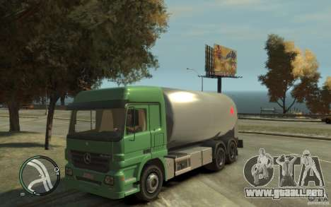 Mercedes Benz Actros Gas Tanker para GTA 4 vista interior