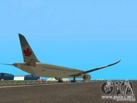 Boeing 787 Dreamliner Air Canada para la visión correcta GTA San Andreas