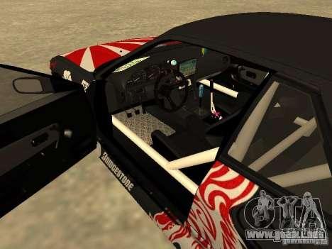 Nissan Silvia S13 JDM para visión interna GTA San Andreas