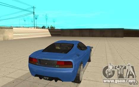 Turismo de GTA 4 para GTA San Andreas vista posterior izquierda