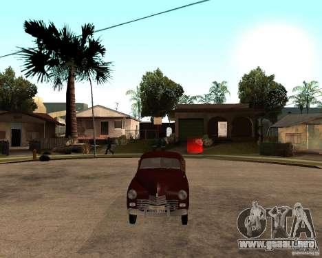 Gaz M-20 Pobeda PickUp para la visión correcta GTA San Andreas