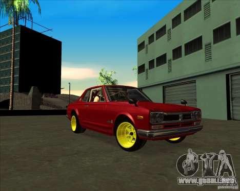 Nissan Skyline GTR 2000 para la visión correcta GTA San Andreas