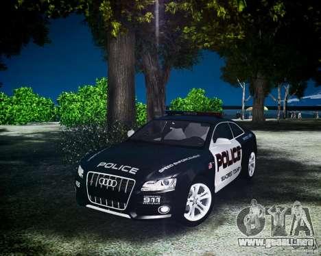 Audi S5 Police para GTA 4