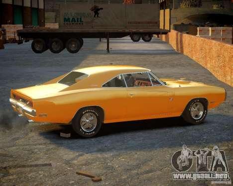 Dodge Charger Magnum 1970 para GTA 4 Vista posterior izquierda
