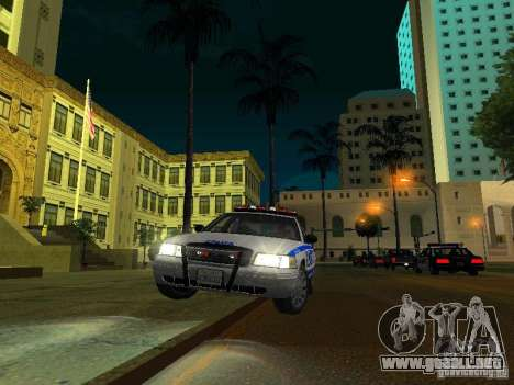 Ford Crown Victoria 2009 New York Police para la vista superior GTA San Andreas